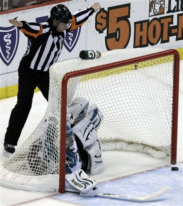 If the Wings can put the goalie in the net, why can't they put the puck in, too?